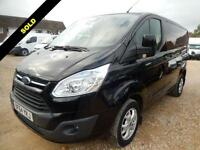 2014 64 FORD TRANSIT CUSTOM 2.2 TDCI 270 LIMITED SWB LOW ROOF 125 BHP 50298 MILE