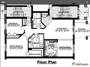 $1280/mth - 1200 sf - 2 bedroom New Condo for Rent (Vaudreuil) West Island Greater Montréal image 2