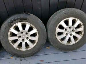 Tires and rims p235/65r16