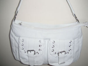 White purse and jewellery