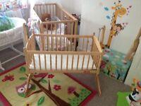 Lovely swinging crib and mattress