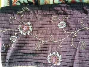 Embroidered Comforter Cover, Drapes, Pillow Case Set