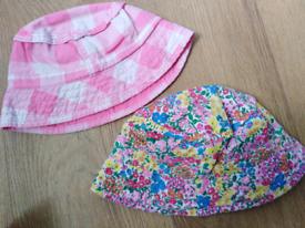 2 x Next Sun Hats. 1-2 Years.