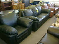 Leather sofa and chair. $699.
