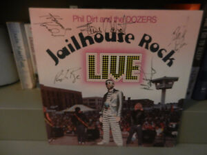 Vinyl Record Phil Dirt and the Dozers Autographed Jailhouse Rock