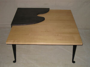 Table à café en érable style retro