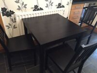 Kitchen table and 3 chairs