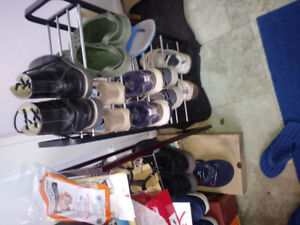 IN MINT CONDITION TWO SHOE STANDS/SHELVES/RACKS FOR SALE