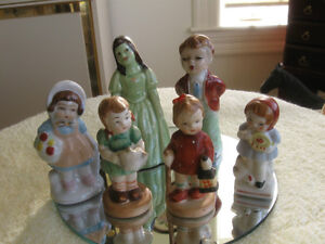 SIX-PIECE COLLECTION of MINITURE CHINA FIGURINES
