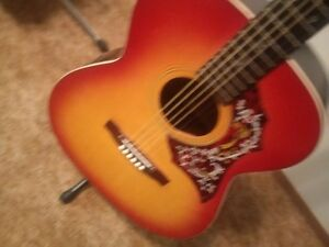 Vintage Raven A203Y Hummingbird Style Acoustic+tuner