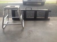 Dirt bike stand and ramp
