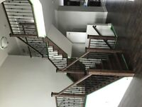 STAIRS & RAILING (INSTALLATION,STAINING, METAL SPINDLES)