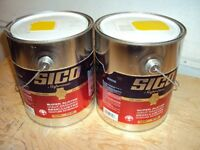 peinture jaune Sico Supreme alkyde int./ext. 2 gallons disponib.