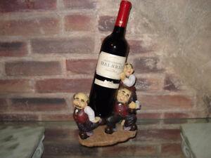 Support à bouteille de vin.