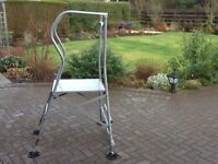 PLATFORM LADDER -to reach tall hedges outdoors or ceilings indoors