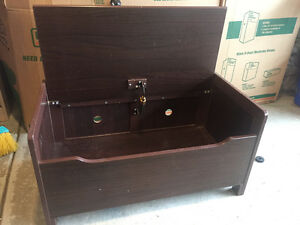 Chocolate brown storage bench