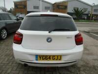 2014 (64) BMW 118i SPORT Manual Petrol White Climate DAB BT Nav Cruise Xenon FSH