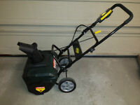 Yardworks electric snow thrower - practically new