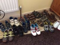 15 pairs of boys footwear