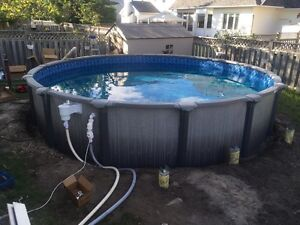 Professional above ground pool/liner installation