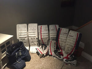 CCM/Reebok custom pro goalie equipment