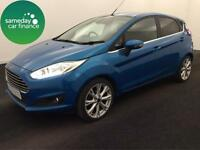 ONLY £173 PER MONTH BLUE 2013 FORD FIESTA 1.0 ECO BOOST TITANIUM PETROL MANUAL