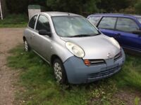 Nissan Micra 1.2s 2004 Spares Or Repairs