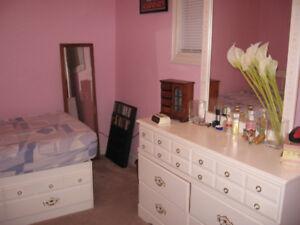 children's bed, dresser & desk