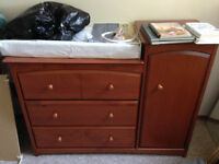 Crib, Change table and Dresser for Sale