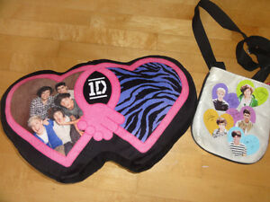 One Direction cushion and purse