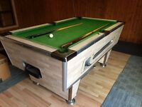 Slate top coin operated (free play) pool table
