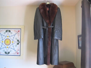 Tannery Row Full Length Leather/Fur Coat