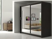 ==FASTEST DELIVERY==BRAND New Berlin 2 or 3 Door Mirror Sliding Wardrobe in 5 New Size