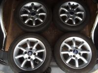"Genuine ford 14"" alloy wheels ka or fiesta"