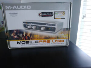 M Audio MobilePre USB (USB bus-powered preamp and audio interfac