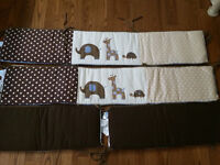 Lambs & Ivy Reversible Bumper Pads - Jake collection