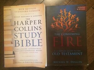 The Consuming Fire and Harper Collins Study Bible