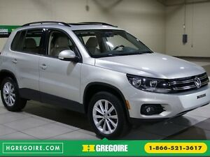 2014 Volkswagen Tiguan Comfortline AWD A/C CUIR TOIT PANO MAGS