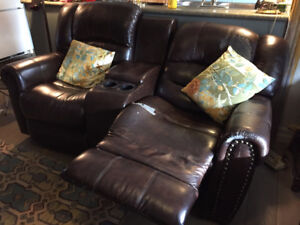 free large leather sofa/recliner