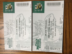 2 Moosehead Tickets for Saturday December 15th
