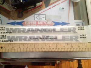 """2 OEM Mopar Jeep JK """"Wrangler""""   Black Fender Decals St. John's Newfoundland image 1"""