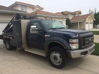 2008 F550 picker truck