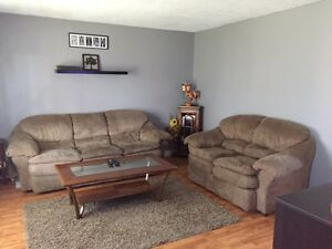 Microsuade couch and love seat
