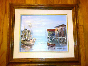 oil painting --- Fishing port