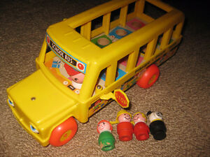Additional Fisher Price Little People - Includes Vintage Bus Lot