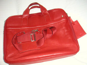 BREE ladies briefcase, red leather