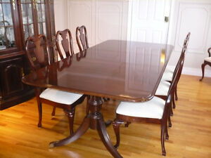 Thomasville Queen Anne Style Collector`s Dining Room Set