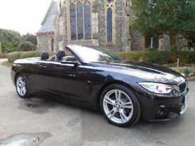 HIGH SPEC 2014 14 BMW 420d CONVERTIBLE * M SPORT * AUTO F.S.H *BMW * ONLY 46,000