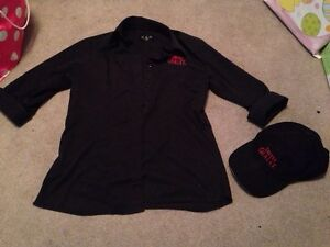 Womens black Swiss Chalet uniform and hat