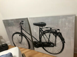 Urban barn statement wall art. Bicycle wall art.
